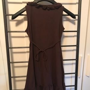brown girls sundress with tie back